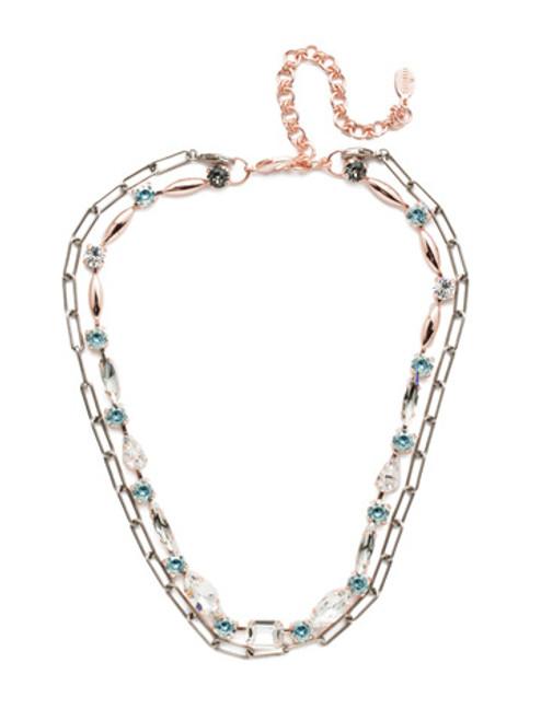 Sorrelli Crystal Azure - Mayzel Tennis Necklace~ NET1MXCAZ