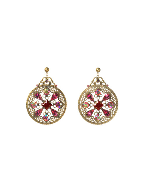 Sorrelli Pink Orchid- Filigree and Fancy Free Earrings~ ECP28AGPOR