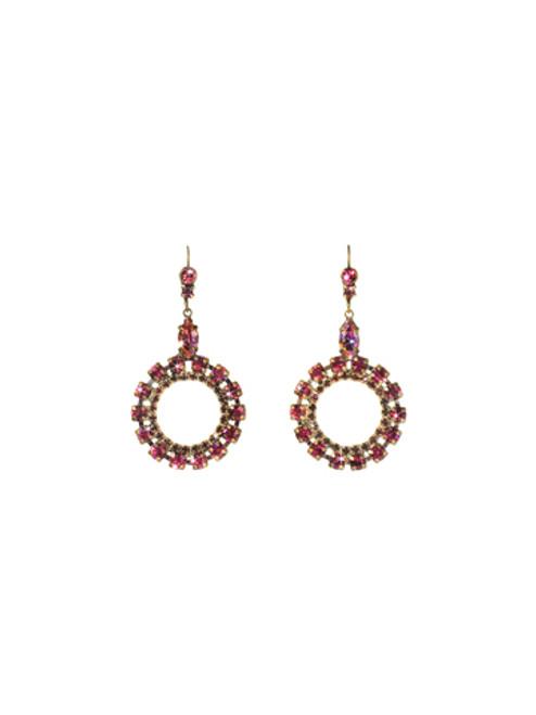 Sorrelli Pink Orchid- Luxe Loops Crystal Earrings~ ECN37AGPOR