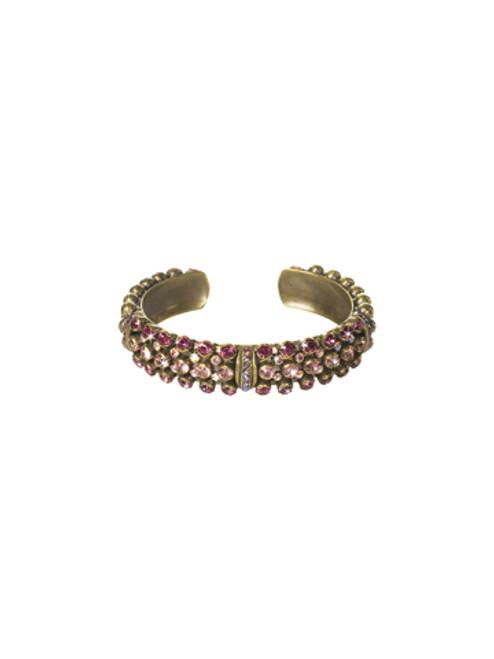 Sorrelli Pink Orchid- Wistful Wrist Cuff Bracelet~ BCN200AGPOR