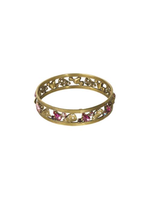 Sorrelli Pink Orchid- Trailblazing Bangle Bracelet~ BCP36AGPOR