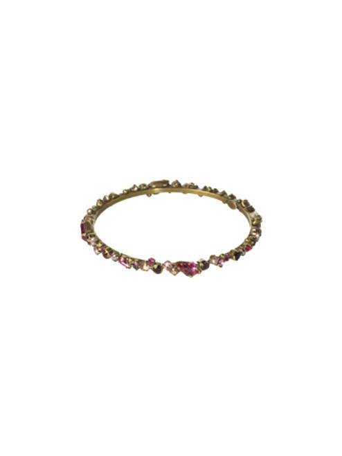 Sorrelli Pink Orchid- Bundle of Bling Bangle Bracelet~ BCP19AGPOR