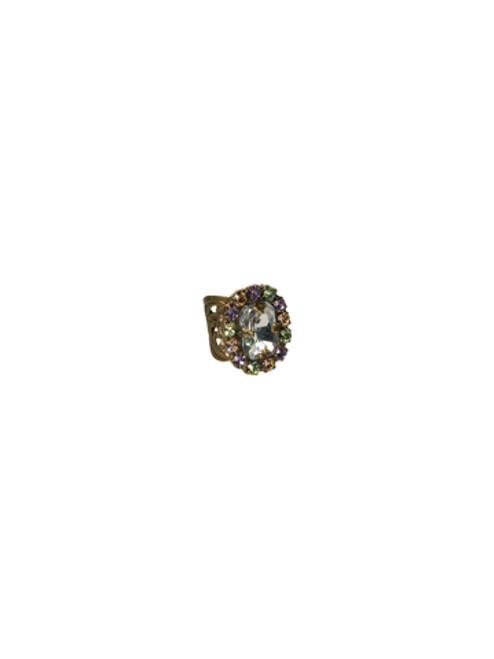 Sorrelli Sweet Dreams- Crystal Regency Cocktail Ring~ RBT73AGSWD