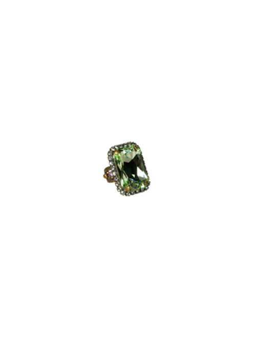 Sorrelli Sweet Dreams- Luxurious Emerald Cut Cocktail Ring~ RBT69AGSWD