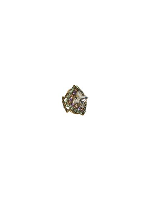 Sorrelli Sweet Dreams- Starburst Crystal Ring~ RCG11AGSWD