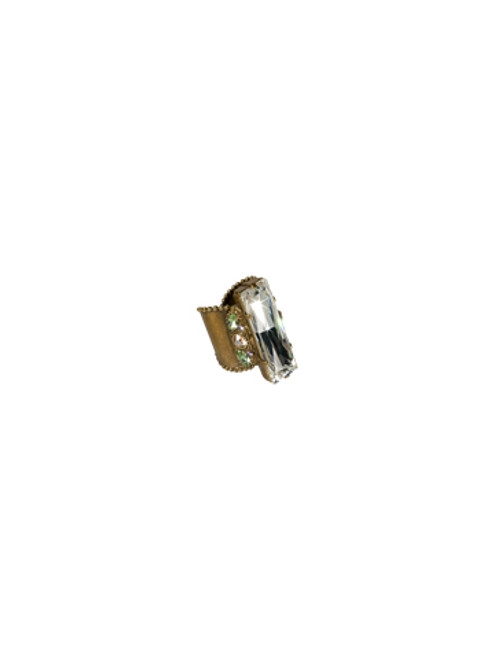 Sorrelli Sweet Dreams- Modern Baguette Crystal Cocktail Ring~ RCD11AGSWD