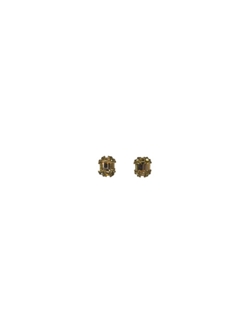 Sorrelli Sweet Dreams- Antique Inspired Emerald Cut Button Earrings~ ECF11AGSWD