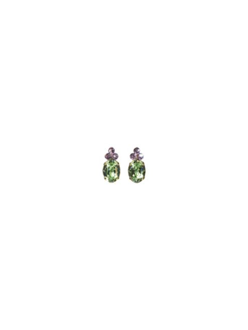 Sorrelli Sweet Dreams- Charming Oval Crystal Earrings~ ECF29AGSWD