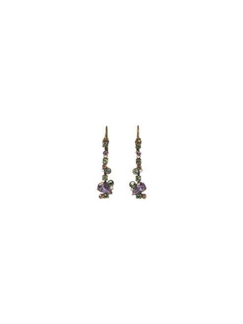 Sorrelli Sweet Dreams- Pear and Baguette Linear Earrings~ ECC11AGSWD