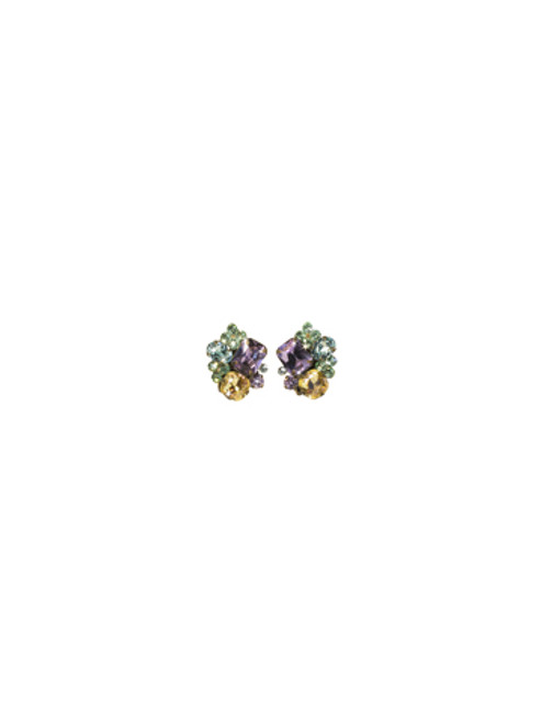 Sorrelli Sweet Dreams- Crystal Cluster Clip On Earrings~ ECD2CAGSWD