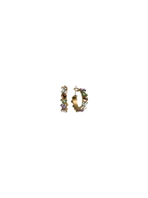 Sorrelli Sweet Dreams- Floral Hoop Hoop Earrings ~ EBP15AGSWD