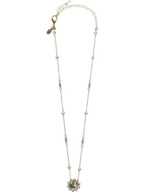 Sorrelli Sweet Dreams- Lace Filigree Petal Pendant Necklace~ NCD16AGSWD