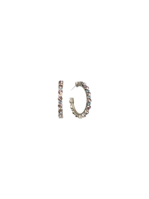 Sorrelli Dixie- Stone Studded Hoop Earrings~ ECL2ASDX