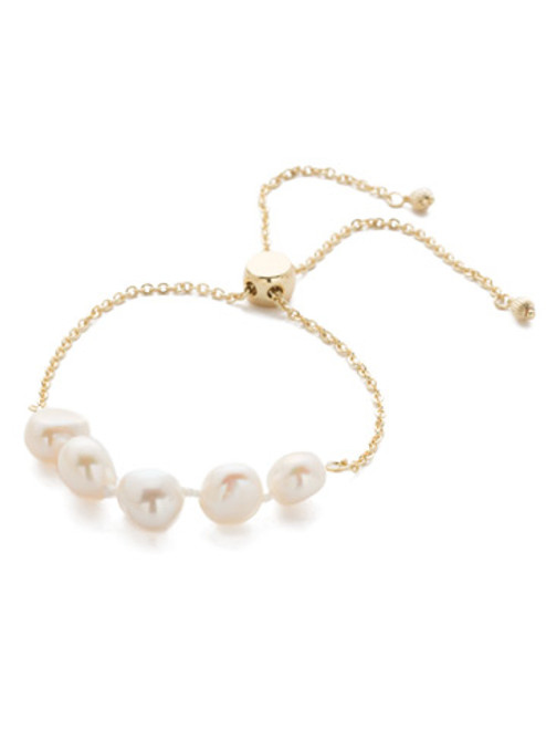 Sorrelli Modern Pearl- Celeste Slider Bracelet~ 4BEF2BGMDP