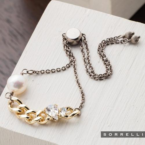 Sorrelli Modern Pearl - Sela Slider Bracelet~ 4BEF17MXMDP
