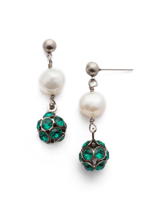 Sorrelli Snowy Moss- Cailey Crystal Dangle Earrings~ EEF20ASSNM