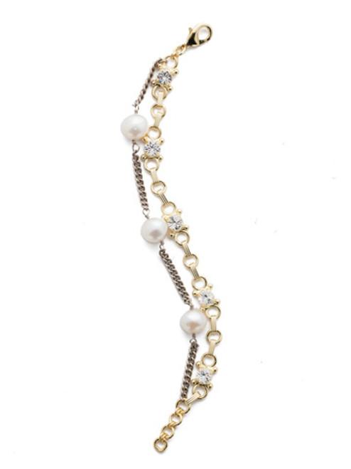 Sorrelli Modern Pearl- Isla Layered Bracelet~ BEB11MXMDP