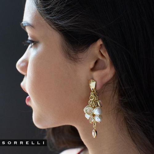 Sorrelli Modern Pearl- Oceane Stud Earrings ~ 4EEF3BGMDP
