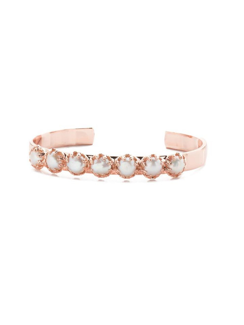 Sorrelli Modern Pearl Citron Cuff Bracelet~ 4BES1RGMDP