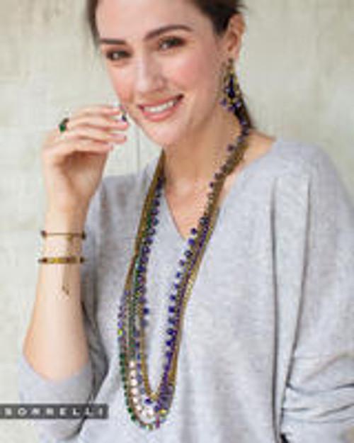 Sorrelli Game of Jewel Tones - Brienne Long Strand Necklace~ NEF42AGGOT