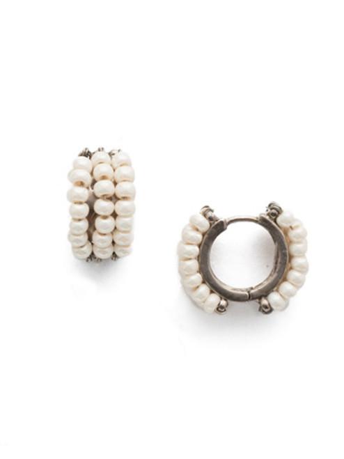 Sorrelli Modern Pearl- Xali Hoop Earrings ~ EEF78ASMDP