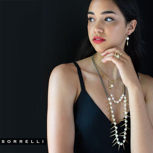 Sorrelli Modern Pearl- To The Point Long Necklace~ 4NEF12MXMDP