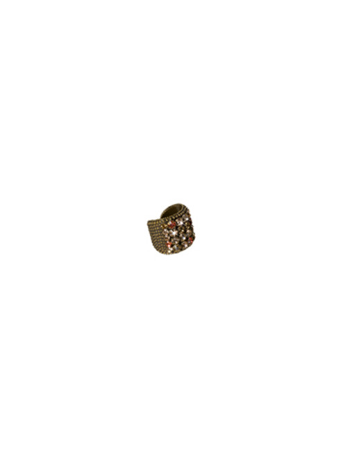 Sorrelli Andalusia- Circle Studded Crystal Ring~RCC3AGAND