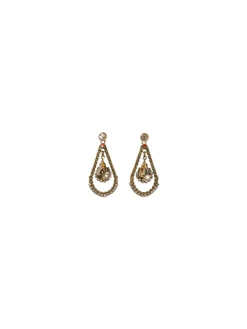 Sorrelli Andalusia- Graceful Pear Teardrop Earrings~ ECF41AGAND