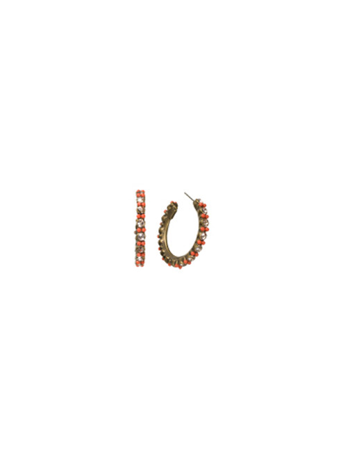 Sorrelli Andalusia-Stone Studded Hoop Earrings~ ECL2AGAND