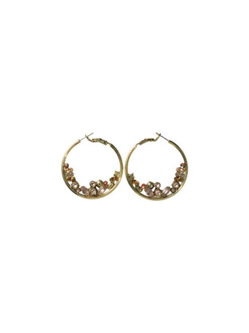 Sorrelli Andalusia- Floating Crystals Hoop Earrings ~ ECF45AGAND