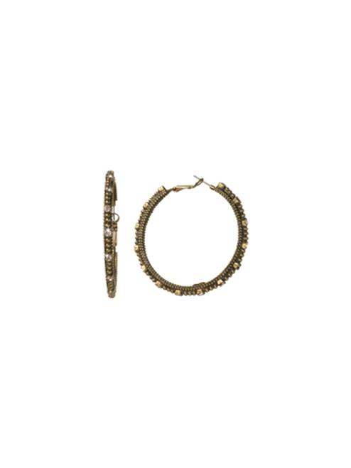 Sorrelli Andalusia- Large Crystal Hoop Earrings~ EBZ4AGAND