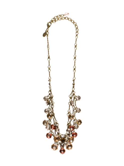 Sorrelli Andalusia- Glittering Double Strand Crystal Bib Necklace~ NCF23AGAND