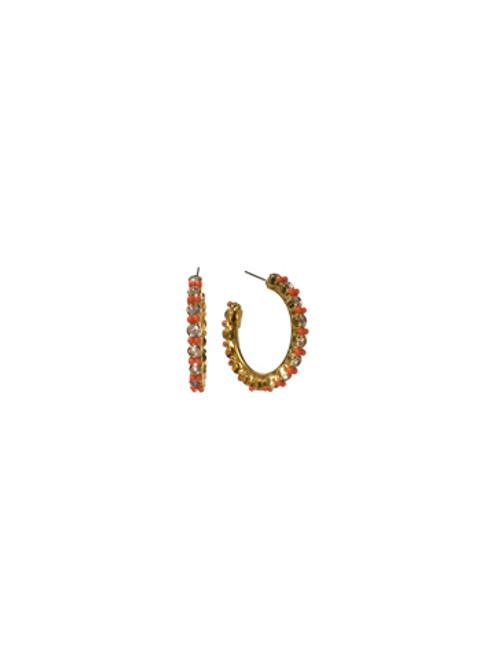 Sorrelli Andalusia- Stone-Studded Hoop Earrings~ ECL2BGAND
