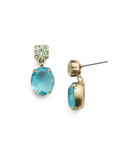 Sorrelli Happy Birthday Denver Crystal Dangle Earrings ~EEP96AGHB