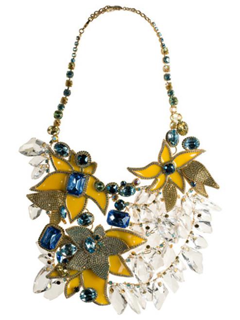 Sorrelli Flora Series Bib Crystal Bib Necklace~NSP30BGSB