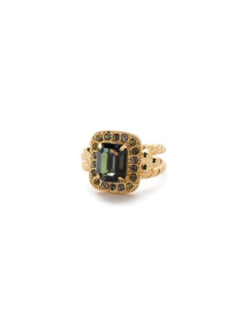 Sorrelli CASHMERE -Opulent Octagon Crystal Cocktail Ring~ RDQ41BGCSM