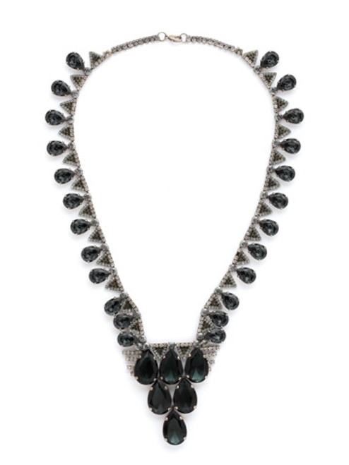 Sorrelli Concrete Jungle Crystal Bib Necklace~NSP79ASCJ