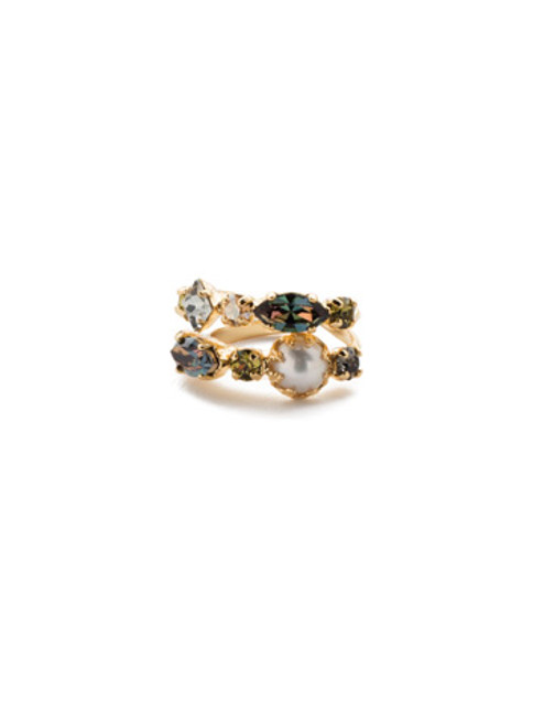 Sorrelli CASHMERE -Oaklyn Stacked Ring~ REP1BGCSM