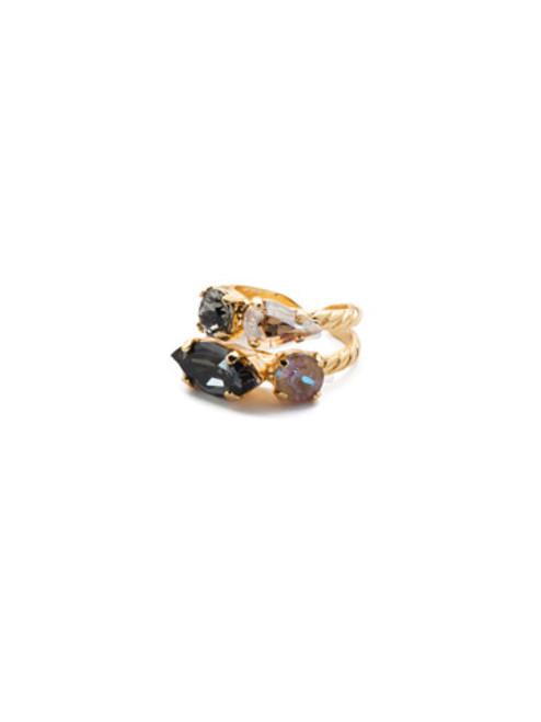 Sorrelli CASHMERE -Mayzel Stacked Ring~ RET1BGCSM