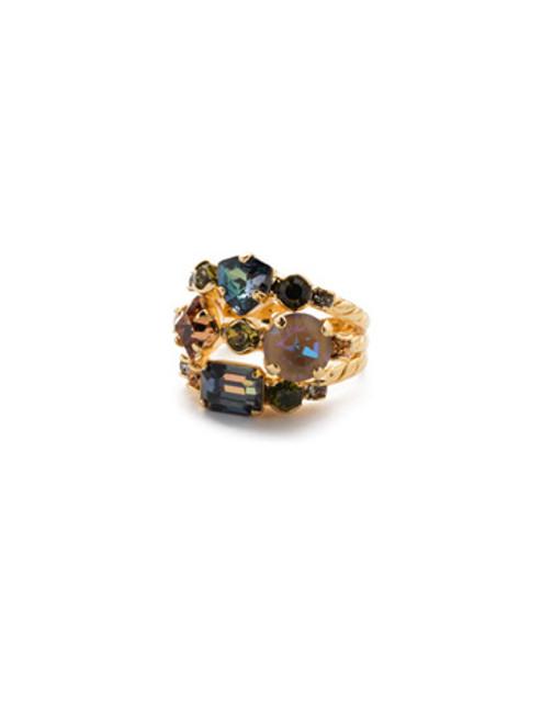 Sorrelli CASHMERE - Sedge Stacked Ring~ RDX1BGCSM