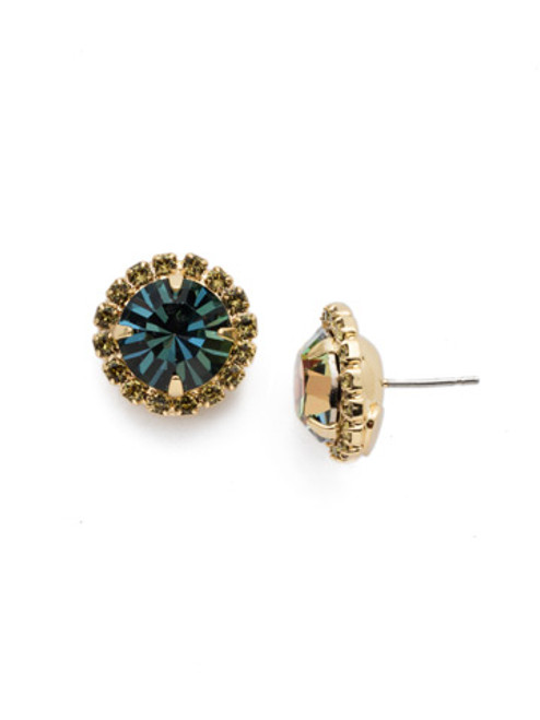 Sorrelli CASHMERE - Haute Halo Stud Earrings ~ ECX98BGCSM