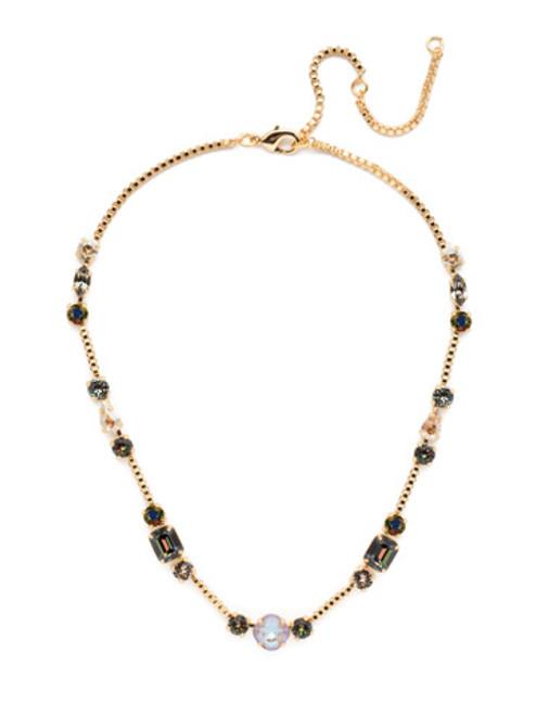 Sorrelli CASHMERE Poppy Crystal Tennis Necklace~ NEN18BGCSM