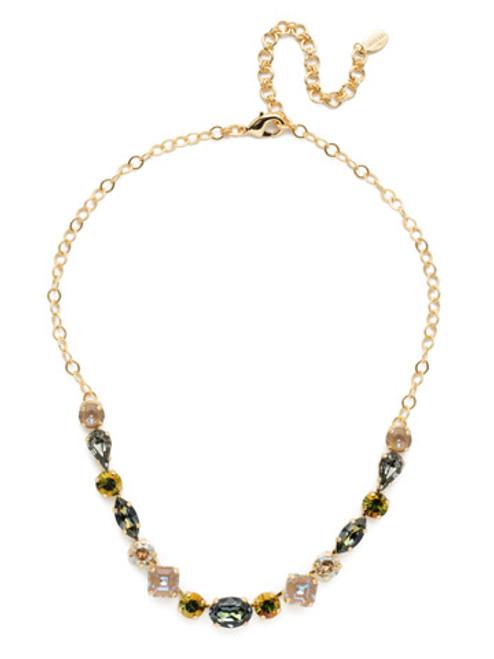 Sorrelli CASHMERE Martina Crystal Tennis Necklace~ NET6BGCSM