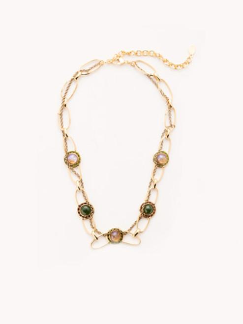 Sorrelli CASHMERE Cheyenne Crystal Tennis Necklace~ NET11MXCSM