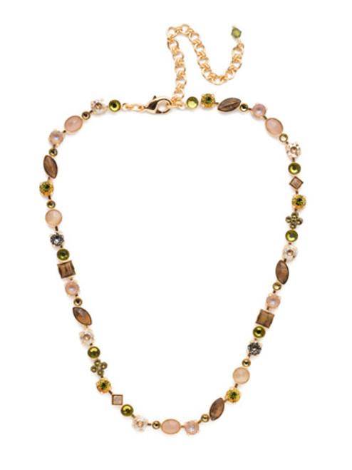 Sorrelli CASHMERE Classic Crystal Tee Shirt Tennis Necklace~ NAQ3BGCSM