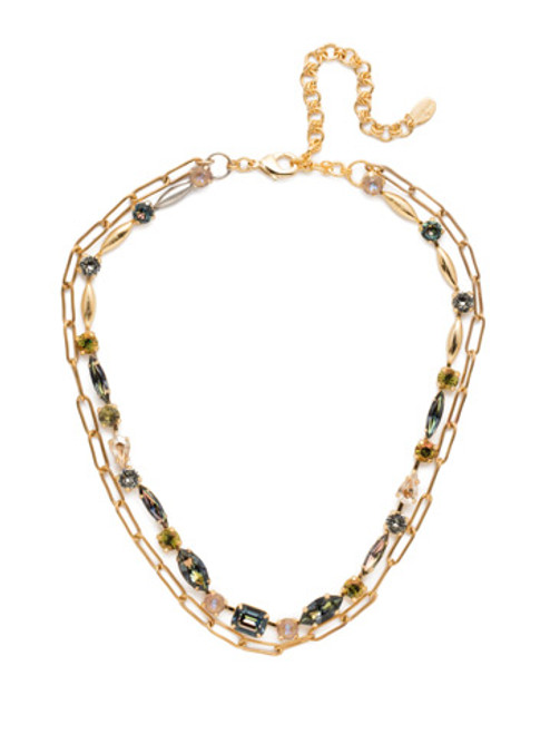 Sorrelli CASHMERE Mayzel Crystal Tennis Necklace~ NET1MXCSM