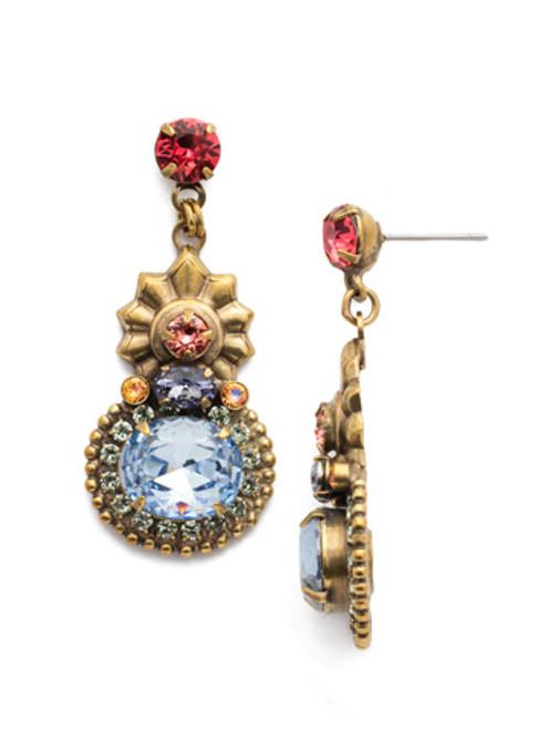 Sorrelli Bohemian Bright- Annabella Post Drop Earrings ~ EEA28AGBHB