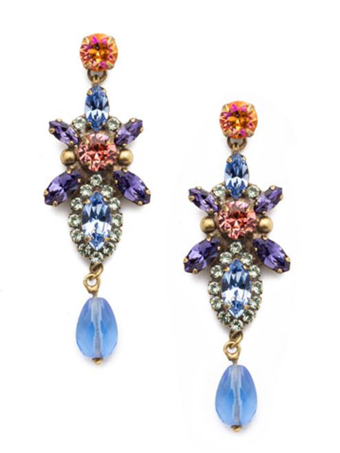 Sorrelli Bohemian Bright- Stargazer Crystal Earrings ~ EDN98AGBHB