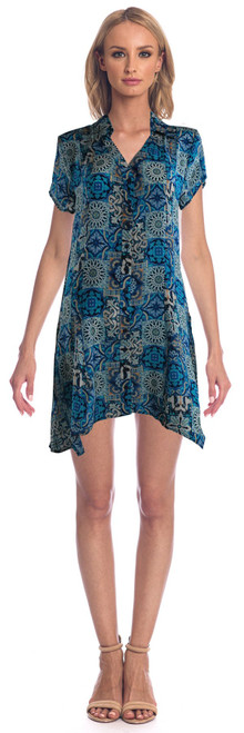 "Tolani Silk ""Gina"" Dress~20073-Tiles"