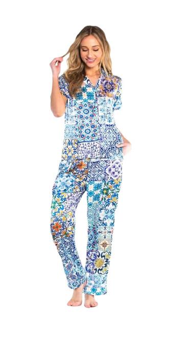 Tolani Pajama Set~Tiles-21239